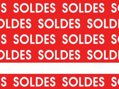 Motif Soldes rouge