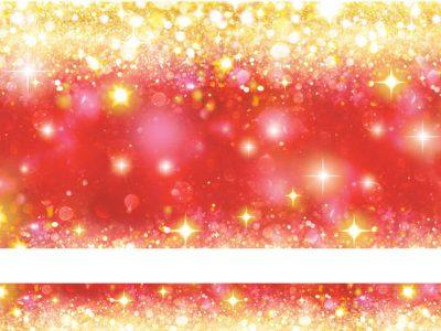 Noël cristaux Rouge et or