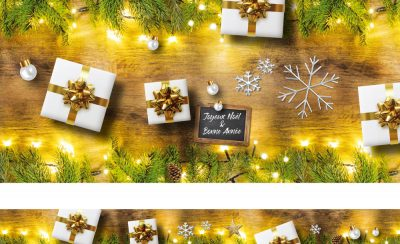 Noël bois cadeaux