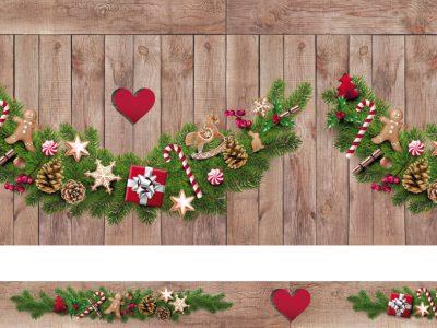 Noël bois guirlande